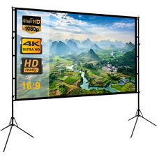 """120"""" Portable Foldable Projector Screen 16:9 Outdoor Home Cinema Theater Movie"""