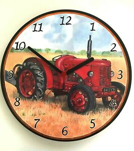 David Brown Tractor Battery Operated Wooden Wall Clock