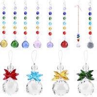 Hanging Window Handmade Rainbow Suncatcher Crystal Prisms Ball Xmas Decoration