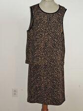 Grace Dane Lewis Woman Skirt / Top Tiger Stripe Heavy Knit Outfit 1X