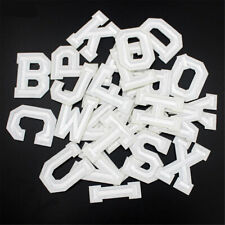 5PCS White Alphabet Letter A-Z Embroidered Patch Badge Sew Iron On Applique