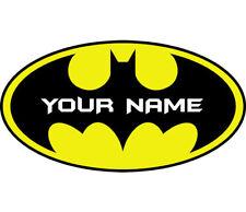 Batman Logo Personalised Custom Name Wall Art Sticker Boys Bedroom Decal Mural