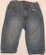 Jungenhose Babyhose Hose Jeans in blau mit Waschung H&M Größe 80