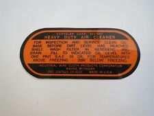 1956 DODGE CHRYSLER PLYMOUTH DESOTO IMPERIAL V8 4BBL ENGINE AIR CLEANER DECAL