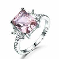 Damenring Echt Silber 925 Damen Ring Morganit Topas Smaragd Stein Damen Geschenk