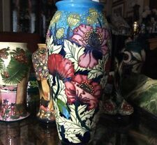 "Moorcroft Limited Edition #7/350 Scarlet Cloud 14"" Vase Des Rachel Bishop Mint"