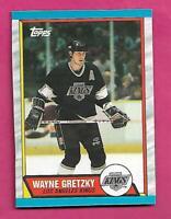 RARE 1989-90 TOPPS # E KINGS WAYNE GRETZKY  BOX BOTTOM CARD (INV# C9801)