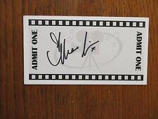 "MENA  SUVARI (""American  Beauty/American  Pie"") Signed  3  x 5 1/2""  White  Card"