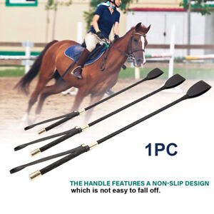 Riding Crop Horse Whip PU Leather Stage Performance Props Non Slip With Handle