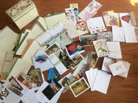 Vtg new huge lot Approx 140 Blank Birthday Christmas versatile Greeting cards