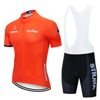 2019 Orange Color Mens Cycling Jersey Bib Short Set Orange Mens Cycling Jersey