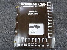 International IH Model 444 Elevating Pay Scraper Parts Catalog Manual Book