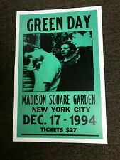 Green Day 1994 Madison Square Garden Nyc Cardstock Concert Promo Poster 12x18