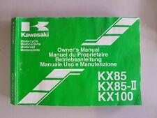 Kawasaki KX85 A  KX85 B  KX100 D    Owners Manual Handbook