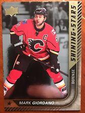 2015/16 Upper Deck Hockey Series 1 Shinning Star Insert Mark Giordano #SS-7