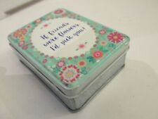Sass & Belle little vintage style metal tin If Friends were Flowers I'd pick you