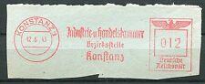 FLAMME DEUTSCHE REICH 1943  KONSTANZ 1