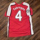 Authentic 2008/09 Arsenal Home Football Shirt UCL - CESC FABREGAS 4 - LARGE