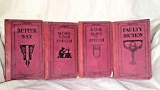 Lot of 4 Literary Digest 1920's Books Faulty Diction Mend Your Speech Better Say