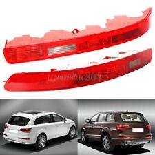 1 Pair L&R Rear Bumper Reverse Fog Light Red Housing Lens For Audi Q7 2006-2015