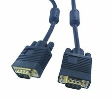 25FT 15 PIN SVGA VGA Monitor M/M Male To Male Cable CORD FOR PC TV(H1511-25)