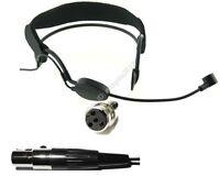Black Plastic frame Condenser Headset Head Microphone for Shure - XLR 4pin Mini