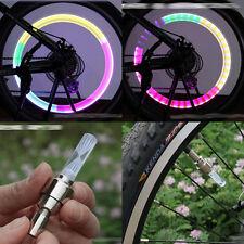 EP lumière led neon bicycles vélo pneu roue gaz Nozzle valve core glow stick 2X