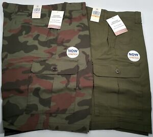 New Authentic Dockers Men's Washed Cargo Performance Stretch Shorts CLEARANCE