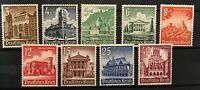 Deutsches Reich, 1940 HISTORIC BUILDINGS, Mi.751-759, Scott B177-B185, ** MNH