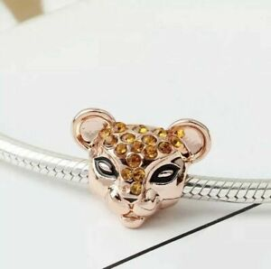 Rose Gold Sparkling Nala Lion King Disney - European Bracelet Charm - UK Seller