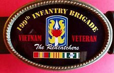 Vietnam Veteran 199th INFANTRY BRIGADE  Epoxy Buckle -NEW!