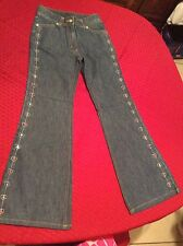 EUC GYMBOREE SUGAR AND SPICE HEART SEQUIN  FLARE JEANS PANTS SIZE 9