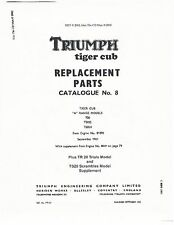 Triumph Parts Manual Book 1962 Tiger Cub TR20 Trials & TS20 Scrambles