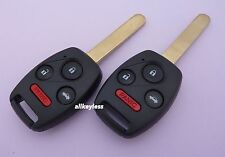 OEM Pair HONDA CIVIC keyless entry remotes fob transmitters N5F-A05TAA +NEW KEY