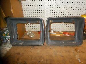 FRONT HEADLIGHT BEZELS D8TB13052 1978 AND 1979 FORD F-100, F-150 F-250