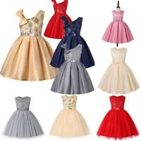 Princess kid bridesmaid tutu dresses party flower girl formal baby wedding dress