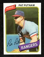 1980 Topps #22 Pat Putnam Texas Rangers Baseball Card NM
