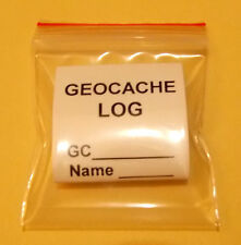 Geocache 100% Waterproof Flatten Scroll for caches GPS geocaching with pencil.