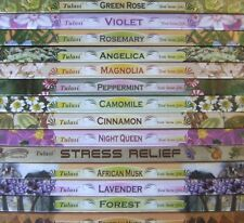 10 Boxes of Tulasi Incense Sticks - Stock Clearance (10 Different Scents)