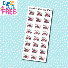 F105 - Pay Car Bill Reminder Stickers for Erin Condren Happy Planner