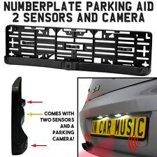 Number Plate Holder Mount Reverse Parking Sensor Sensors & Camera With Buzzer