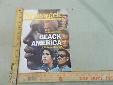 Newsweek Magazine cover story = Report from Black America African American  1969