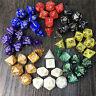 7 x poliedrosl acrílico mazmorras dragones dados múltiples lados juego de *ws