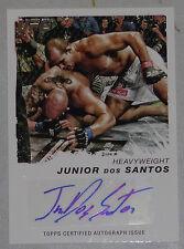 Junior Dos Santos Signed UFC 2011 Topps Moment of Truth Card #CS-JDS Autograph