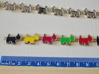 1 metre x corded Enamel Scotty / Westie dog trimming/charms approx. 49 per metre