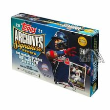 Topps 2021 Archives Signature Series Active Player Baseball 2 Hobby Boxes