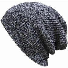Unisex Men Women Knit Baggy Beanie Winter Hat Ski Slouchy Chic Knitted Cap SP
