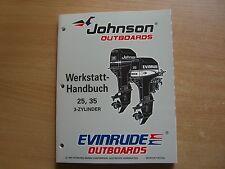 Werkstatthandbuch Johnson Evinrude Außenborder EU 1997 3Zyl 25 35 PS