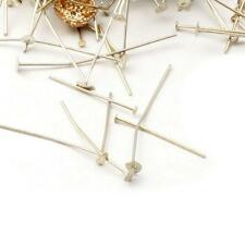 (400) vintage Czech mixed jewelry chandelier flat nail head connector pins