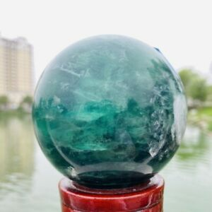 840g Natural Quality Color Fluorite Quartz Crystal Sphere Healing Ball